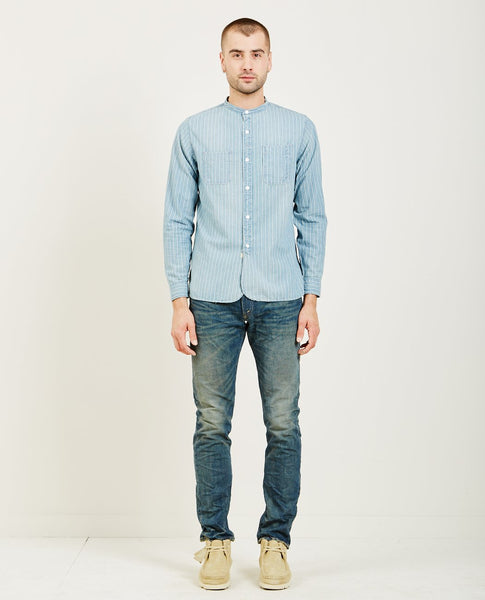 RRL CHAMBRAY STRIPE WORK SHIRT