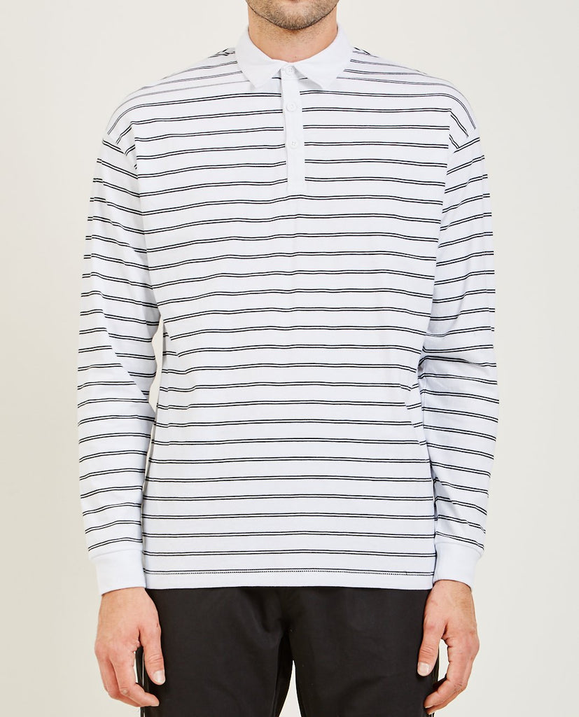 ZANEROBE-CHANNEL RUGBY LONG SLEEVE POLO-Men Shirts-{option1]