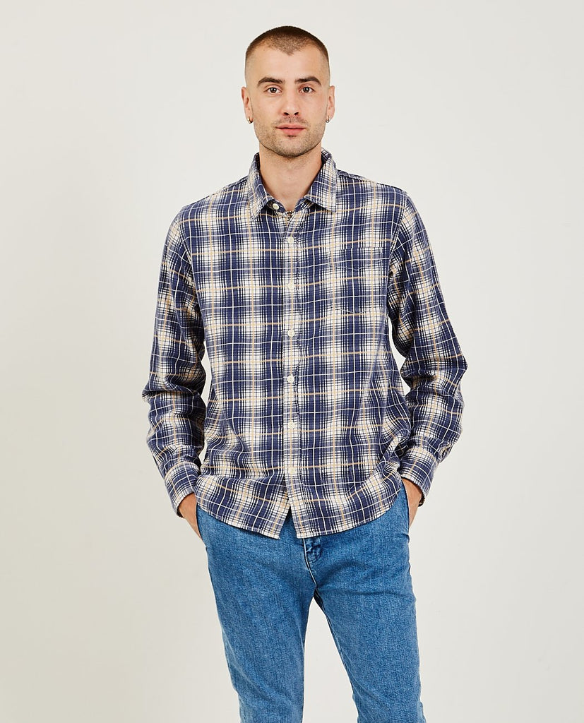 REMI RELIEF-Check Shirt Vintage Finish-SUMMER20 Men Shirts-{option1]
