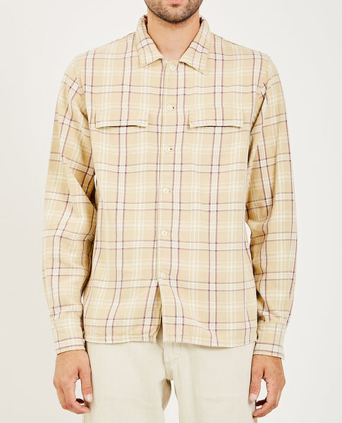 REMI RELIEF CHECKED REGULAR FLAP SHIRT