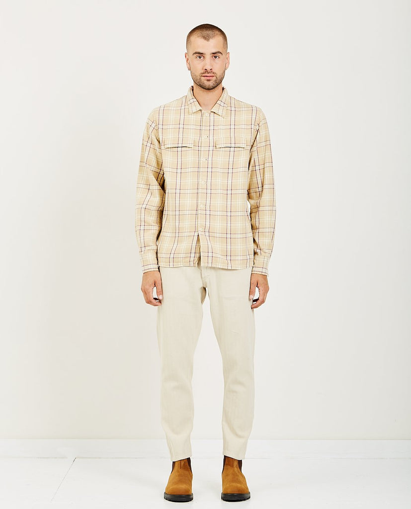 REMI RELIEF-CHECKED REGULAR FLAP SHIRT-Men Shirts-{option1]