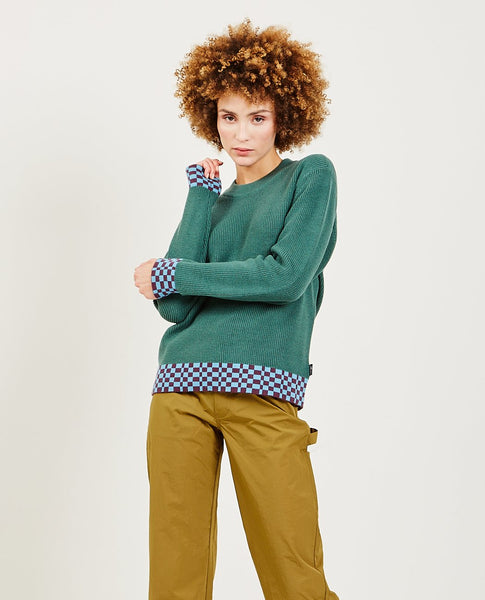 STUSSY Checker Trim Sweater