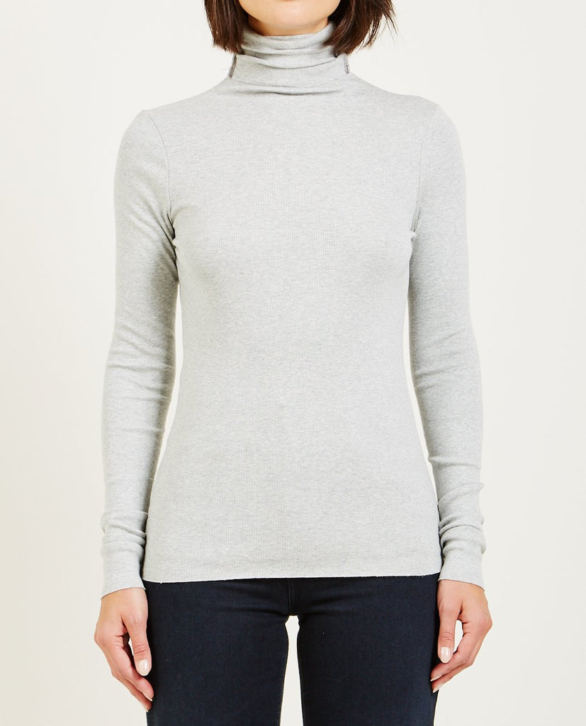 AG JEANS-CHELS TURTLENECK HEATHER GREY-Women Sweaters + Sweatshirts-{option1]