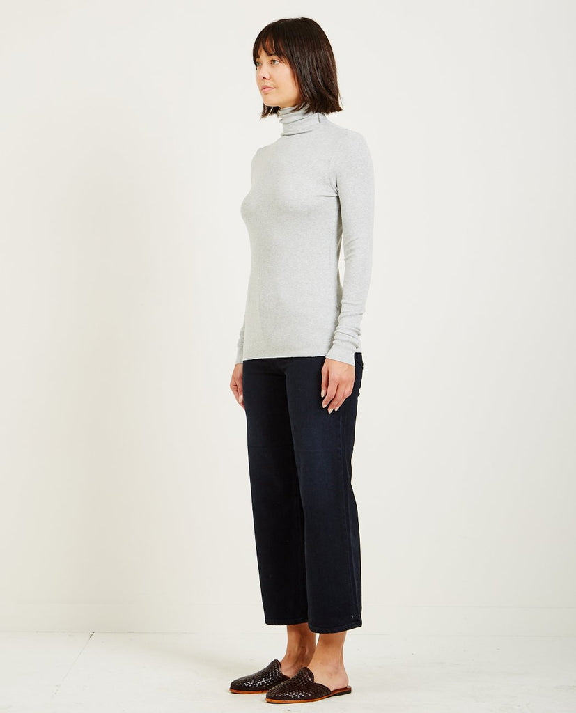CHELS TURTLENECK HEATHER GREY-AG JEANS-American Rag Cie