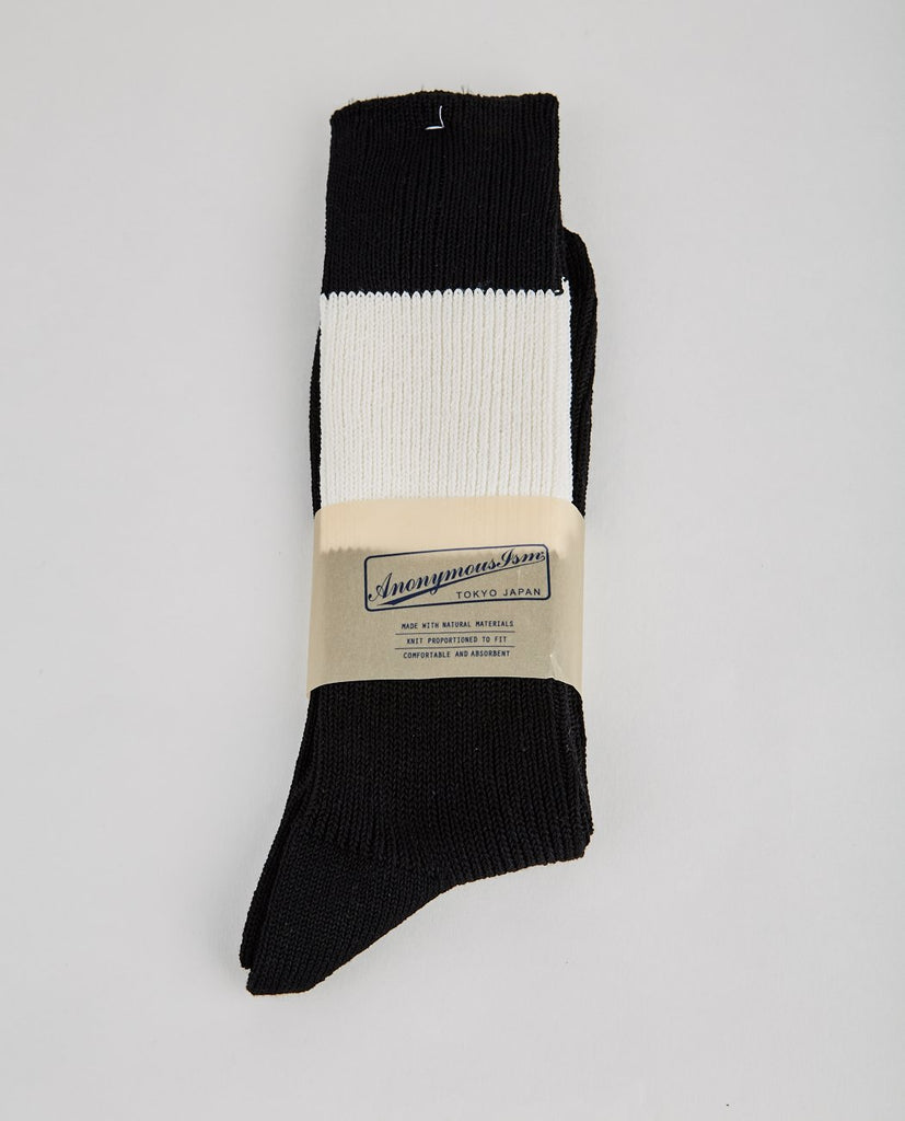 ANONYMOUS ISM-CHIC LINES CREW-Men Socks-{option1]