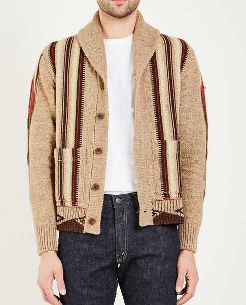 RRL CHIMAYO SHAWL SWEATER- EARTHTON