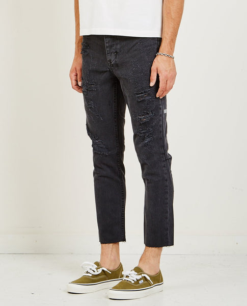 KSUBI CHITCH CHOP JEAN RAT ATTACK BLACK