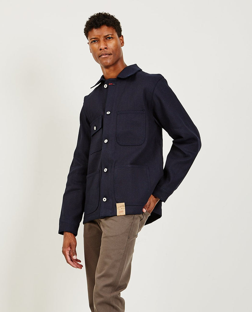 NAKED AND FAMOUS-Chore Coat Indigo-Men Coats + Jackets-{option1]