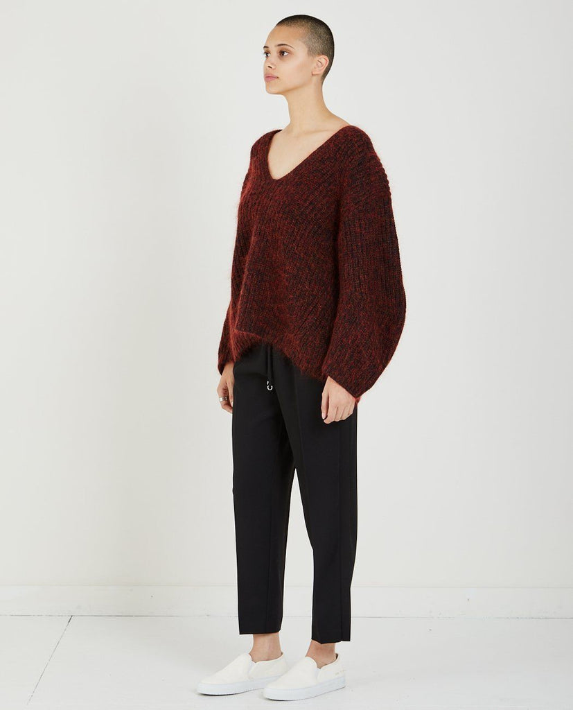 CHUNKY MOHAIR V-NECK SWEATER-T BY ALEXANDER WANG-American Rag Cie