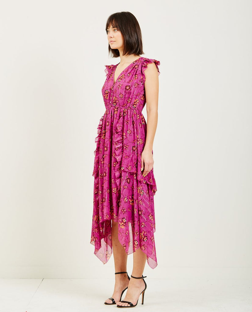 CIEL DRESS MAGENTA-ULLA JOHNSON-American Rag Cie