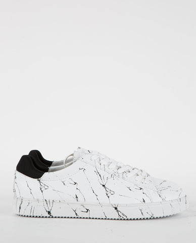 TCG KENNEDY DUAL TONE SNEAKER CRACKED BLACK