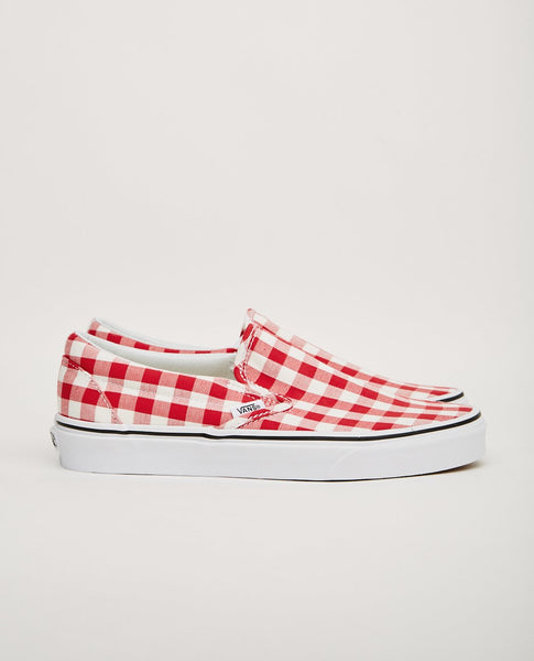 976990a222 VANS CLASSIC SLIP-ON RED GINGHAM ...