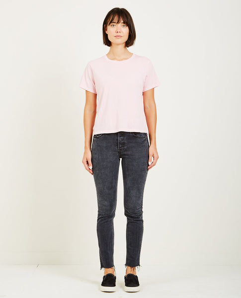 AMO DENIM CLASSIC TEE FADED PINK
