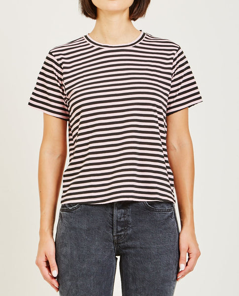 AMO CLASSIC TEE FADED PINK STRIPE