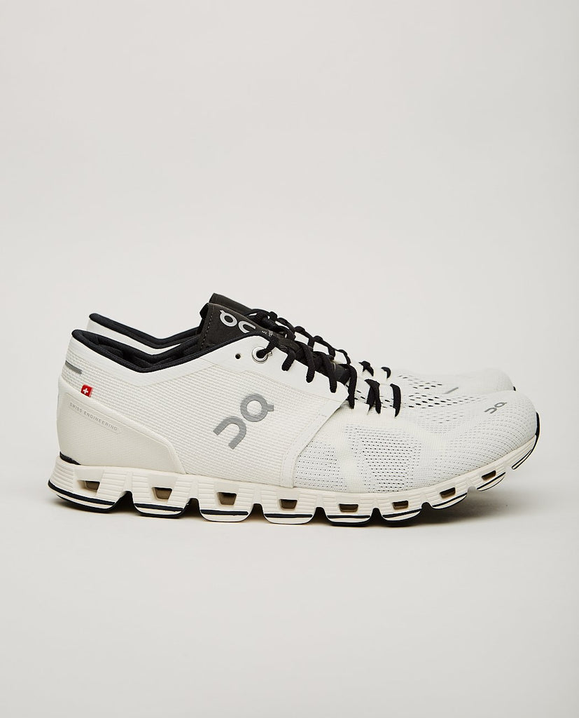 ON.-CLOUD X RUNNING SHOE WHITE/BLACK-Men Sneakers + Trainers-{option1]