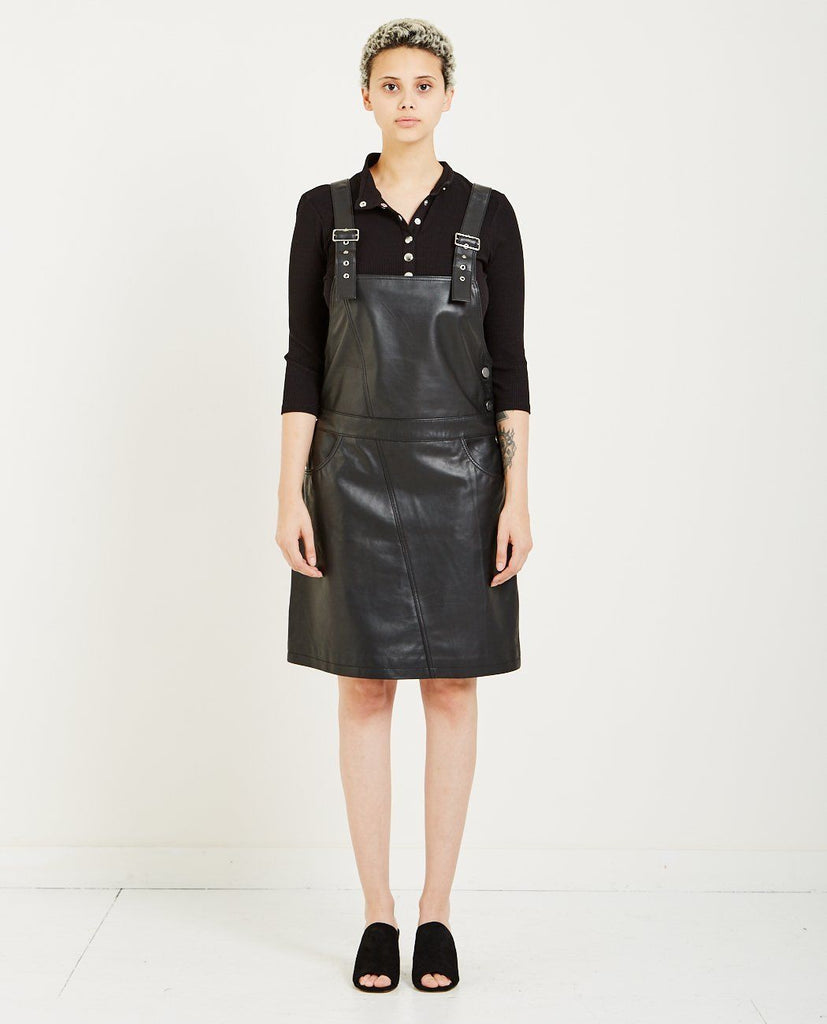 JUST FEMALE COBA LEATHER DRESS
