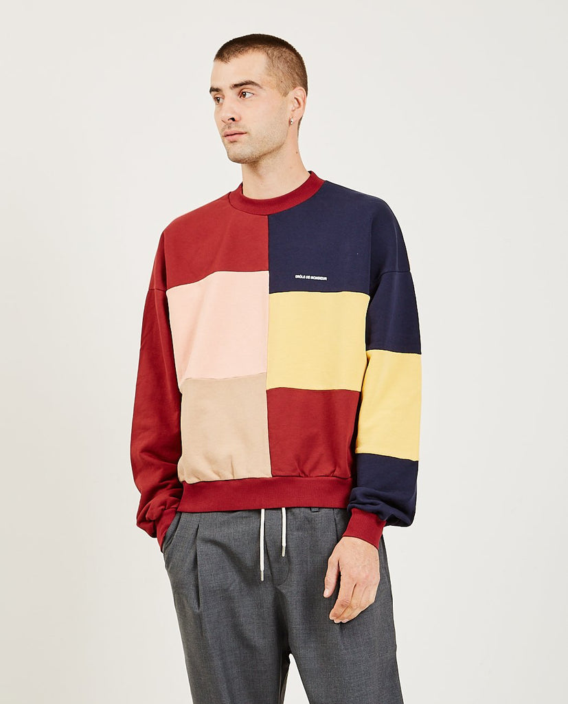 Color Block Sweatshirt-DROLE DE MONSIEUR-American Rag Cie