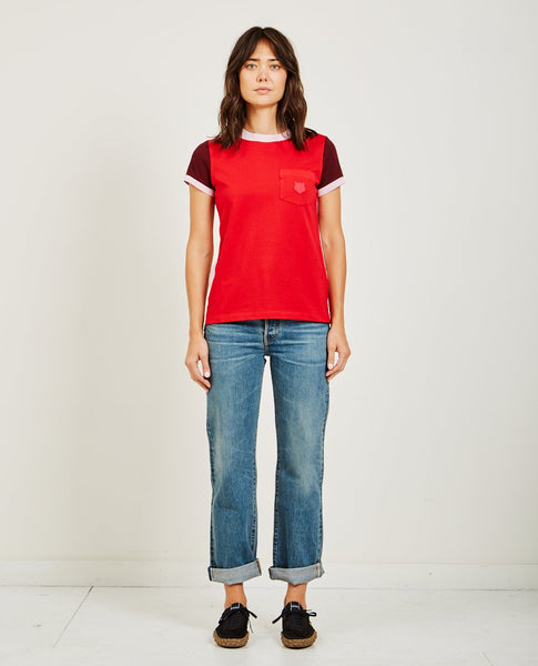 KENZO COLOR BLOCKED STRAIGHT TEE