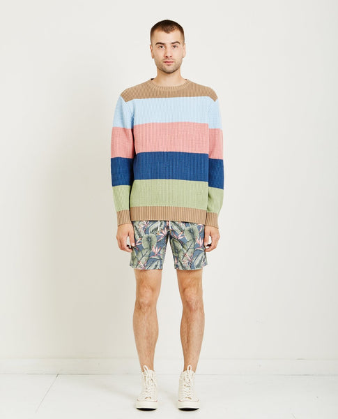 BARNEY COOLS COLOUR BLOCK KNIT SWEATER