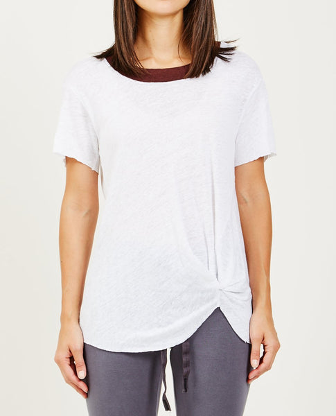 STATESIDE CONTRAST WIDE NECK TWISTY TEE