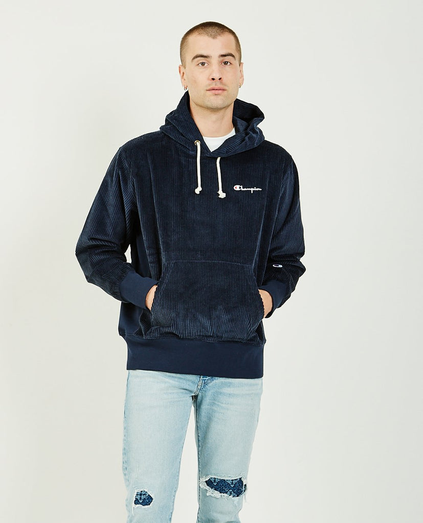 CHAMPION-Corduroy Hoodie-Men Sweaters + Sweatshirts-{option1]