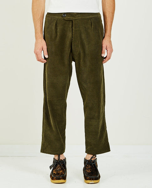 LES TIEN CORDUROY PLEAT FRONT TROUSER