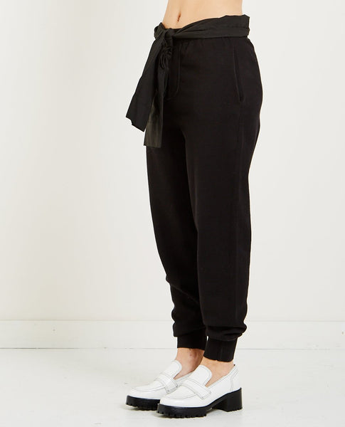 T BY ALEXANDER WANG COTTON KNIT PULL-ON PANT