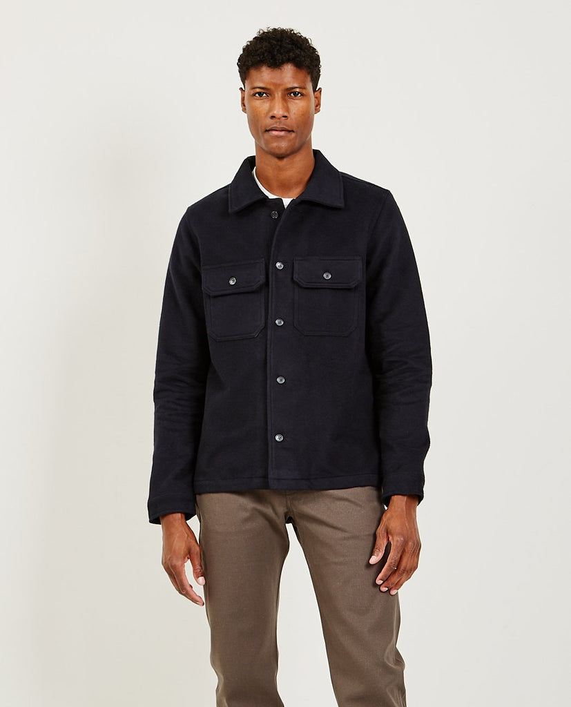 NAKED AND FAMOUS Cotton Melton Black