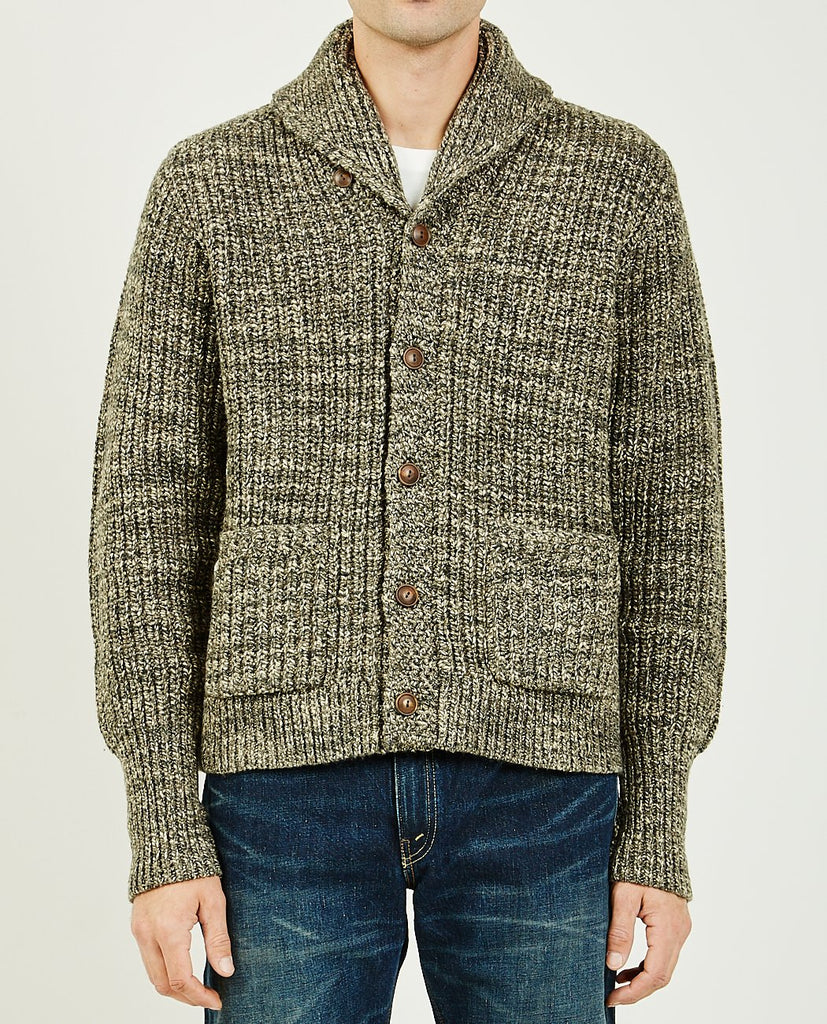 COTTON-WOOL SHAWL CARDIGAN-RRL-American Rag Cie