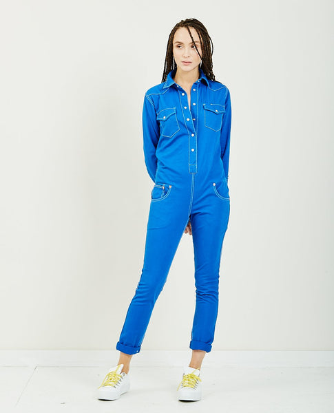 DENIMIST Cowboy Jumpsuit Royal Blue