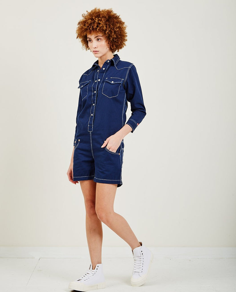 DENIMIST-Cowboy Romper Navy-All-In-One-{option1]