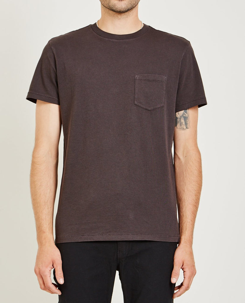 CREW NECK JERSEY POCKET TEE CHARCOAL-AR321-American Rag Cie