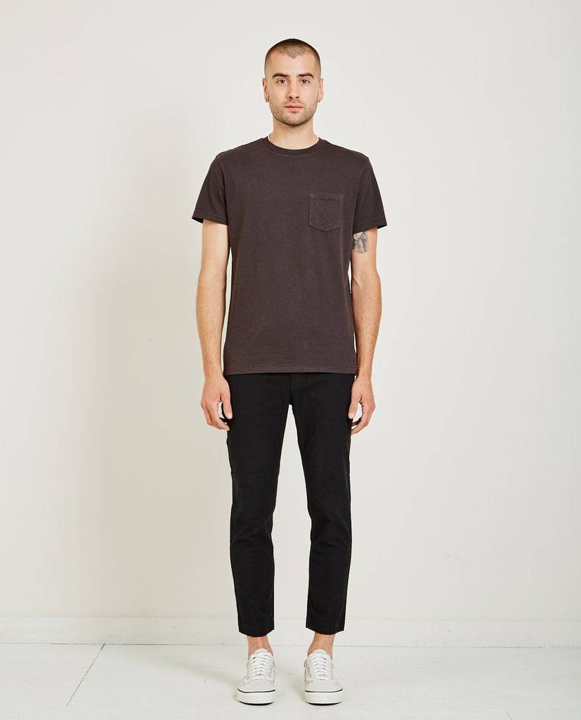 AR321-Crew Neck Jersey Pocket Tee Charcoal-Men Tees + Tanks-{option1]