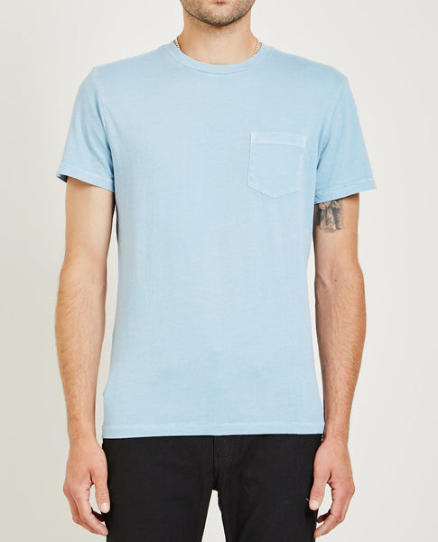 AR321 CREW NECK JERSEY POCKET TEE LIGHT BLUE