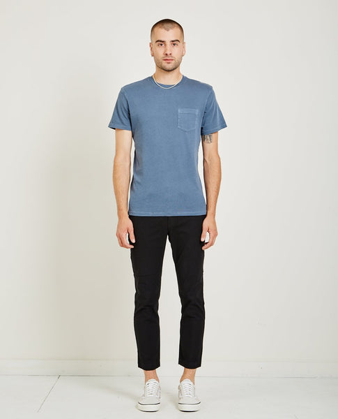 AR321 CREW NECK JERSEY POCKET TEE STEEL BLUE