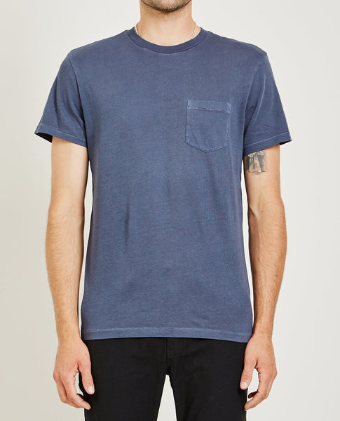 AR321 CREW NECK JERSEY POCKET TEE VINTAGE BLUE