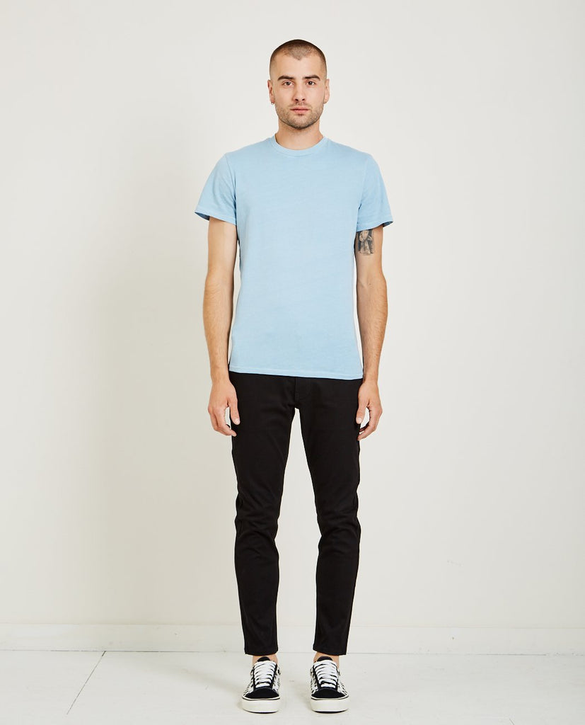 CREW NECK JERSEY TEE LIGHT BLUE-AR321-American Rag Cie