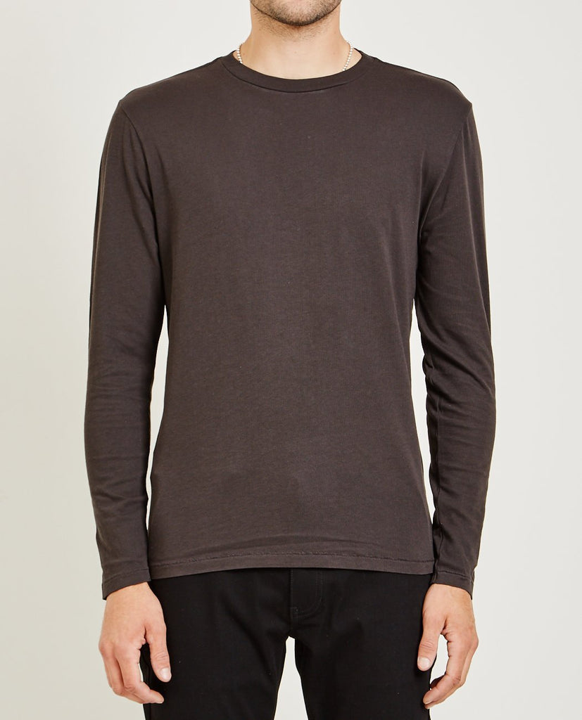 AR321-Crew Neck Long Sleeve Tee Black-Men Tees + Tanks-{option1]
