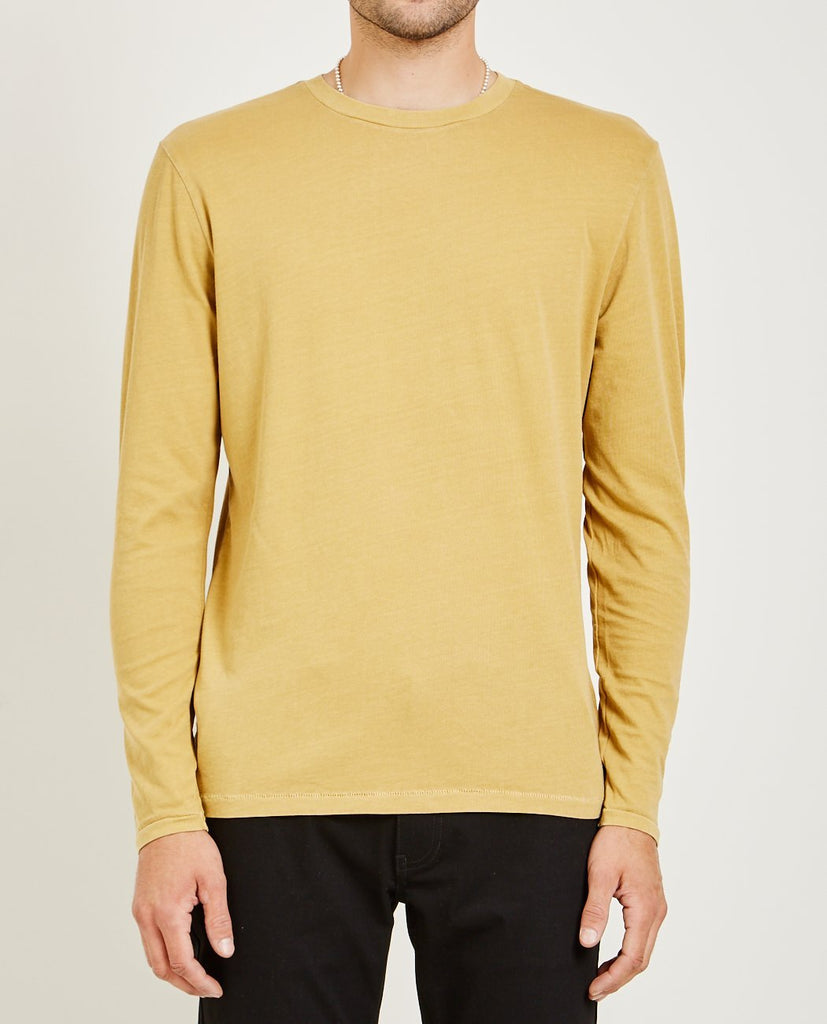 Crew Neck Long Sleeve Tee Light Burnt Orange-AR321-American Rag Cie