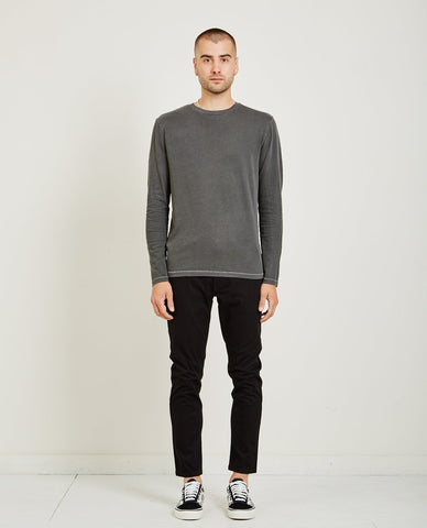 AR321 CREW NECK JERSEY POCKET TEE CHARCOAL