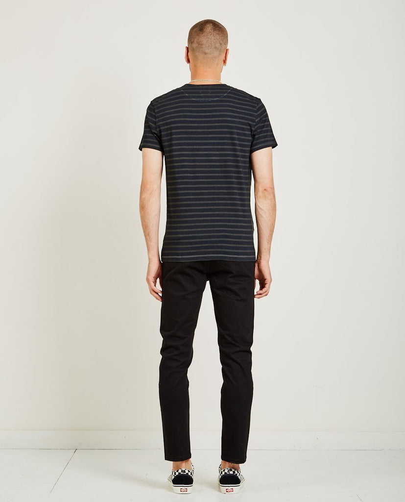 AR321-Crew Neck Stripe Tee-Men Tees + Tanks-{option1]