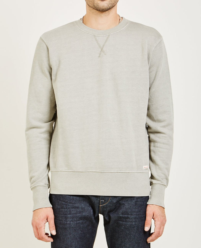 AR321-Crew Neck Sweatshirt (Oatmeal) Charcoal-Men Sweaters + Sweatshirts-{option1]