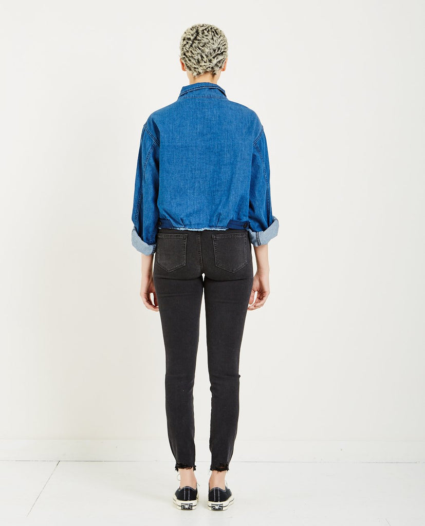 CROPPED ARMY JACKET VIBRANT BLUE-THE GREAT-American Rag Cie