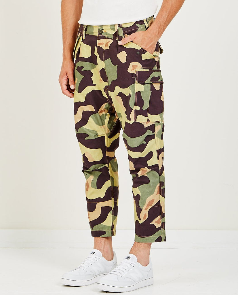 JUNYA WATANABE MAN-CROPPED CAMO PANT-Men Pants-{option1]