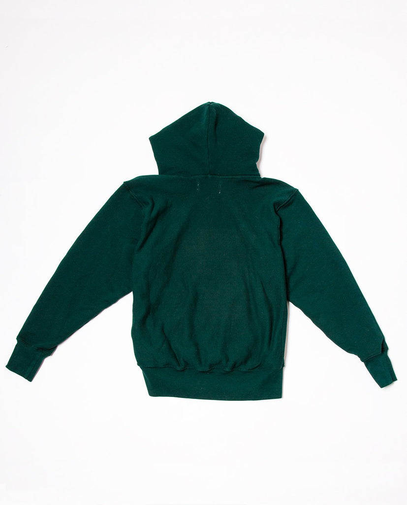 LES TIEN-Cropped Hoodie Emerald-Men Sweaters + Sweatshirts-{option1]