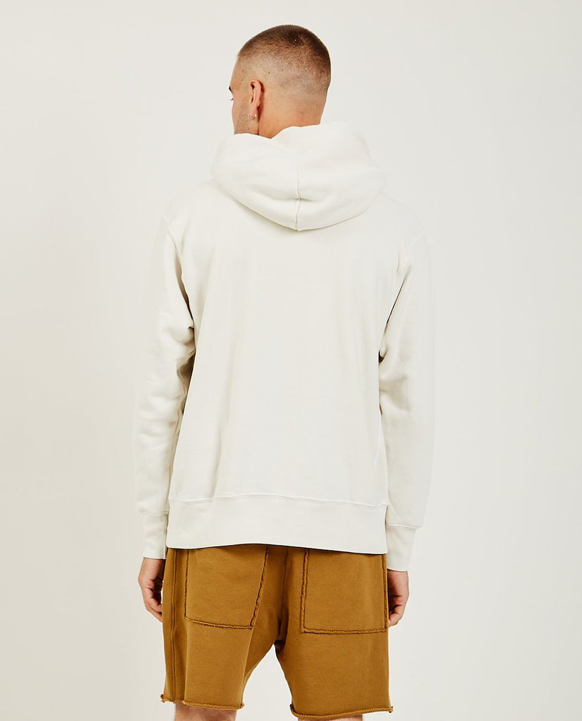 LES TIEN-Cropped Hoodie Ivory-Men Sweaters + Sweatshirts-{option1]