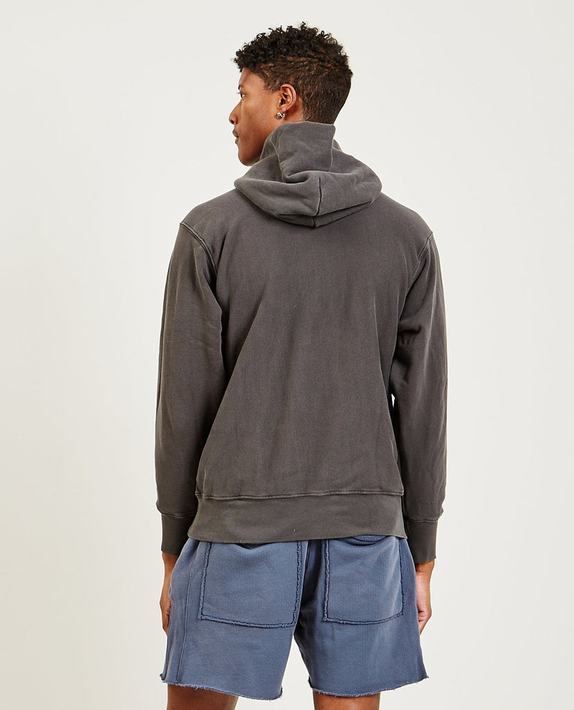 LES TIEN-Cropped Hoodie Vintage Black-Men Sweaters + Sweatshirts-{option1]