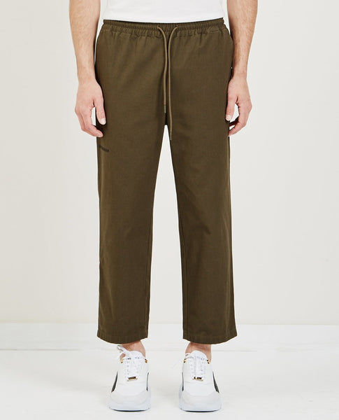 HAN KJOBENHAVN CROPPED PANTS OLIVE CANVAS