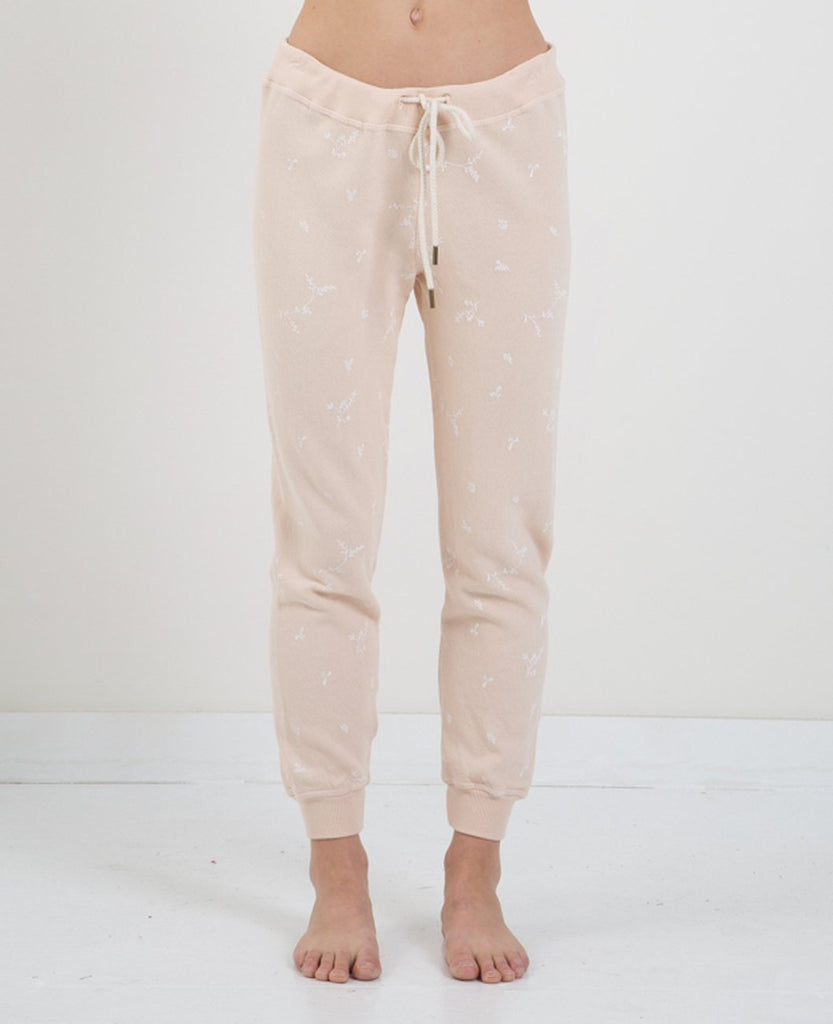 discount shop new products for speical offer CROPPED SWEATPANTS- SPRIG PRNT
