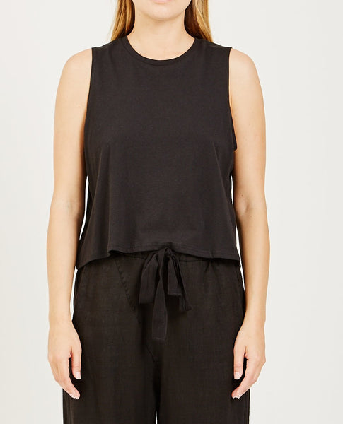 RICHER POORER Cropped Tank Black